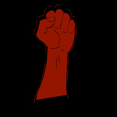 red fist victory in the battle strength