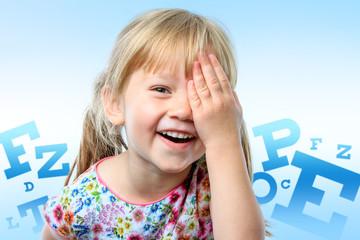 Conceptual children vision test.