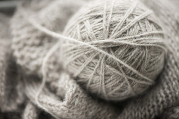 Close-up of ball of yarn