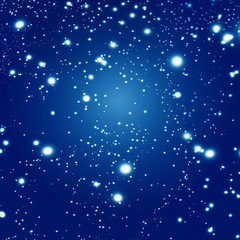 Beautiful abstract background with stars and galaxy.
