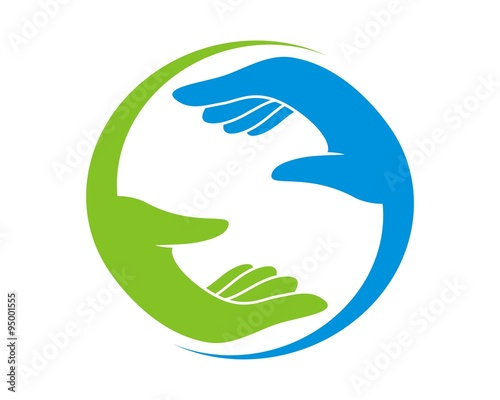 quotabstract hand care logoquot stock image and royaltyfree