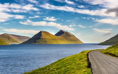 Wall Mural - Island of Bordoy viewed from island of Kalsoy, Faroe Islands