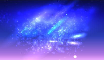 Stars space on dark blue background