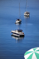 Yacht view from famous tourism city Bodrum Turkey