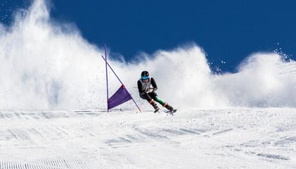 athlete in ski race