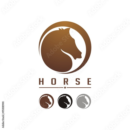 quothorse in the circle logo designquot stock image and royalty