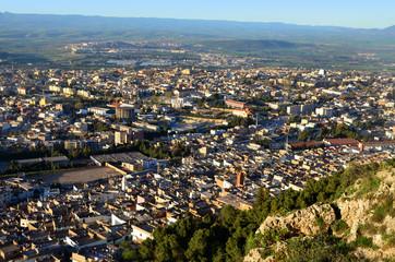 Panorama miasta Tlemcen w Algierii