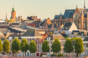 Ancient houses in the Dutch city of Nijmegen