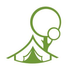 Tourist tent. Flat web icon