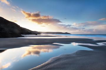 Cornish Sunrise - Whitsand Bay sea and landscape, Cornwall, UK