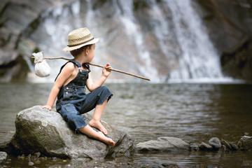 Kind Natur Abenteuer Wasser