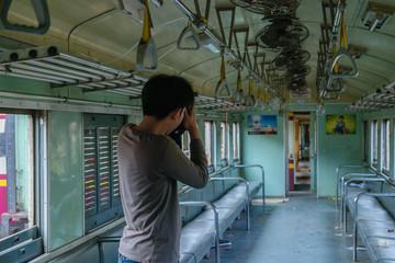 Photographer and Thai train