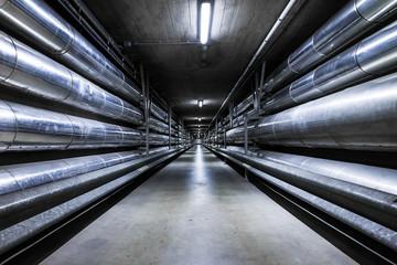 Long underground industrial pipelines perspective