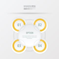 circle presentation template design   yellow color