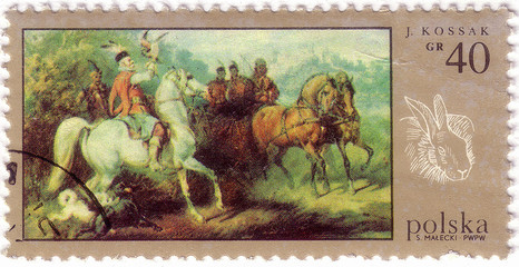 POLAND - CIRCA 1970: a stamp printed in Poland, shows Picture of