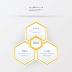 Hexagon vector design   yellow color