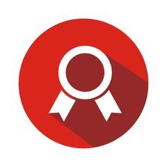 Icono trofeo mod8 rojo botón sombra
