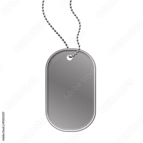 """Military dog tag..."