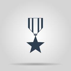 medal icon. Flat design style