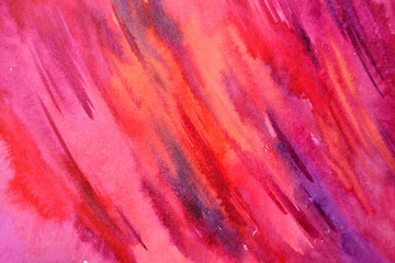 Abstract watercolor red and purple background