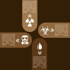 pollution infographics design