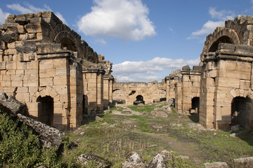 Basilica Baths in Hierapolis, Denizli, Turkey