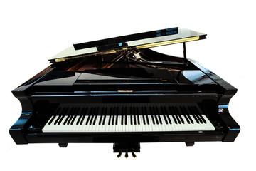 Black piano closeup