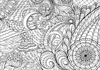 zentangle flowers and mandalas