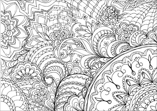 zentangle flowers and mandalas