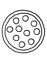 salami pizza round discs