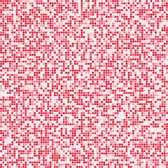 Red square pixel mosaic background