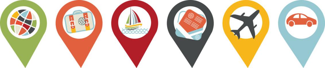 icône voyage, vacances et transport