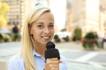 Woman with Mic