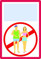 Appropriate attire no summer clothes entry prohibition sign
