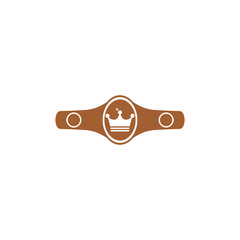 Icon boxing championship belt.