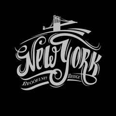 Grunge poster with name of New York,  vector illustration