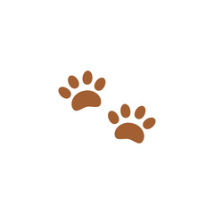 Icon paw tracks.