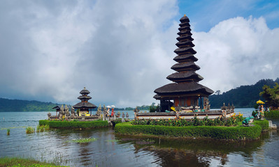 Ancient temple at coast of Bali
