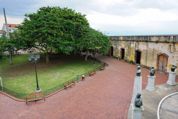 Square in the historic district of Panama City