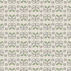 Seamless Hand Drawn Leaf Pattern