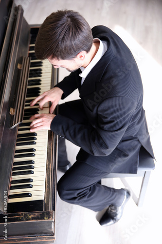 Handsome Man Photo With Piano 69