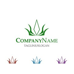Floral Seed logo icon vector