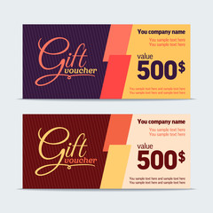 Gift voucher. Vector template