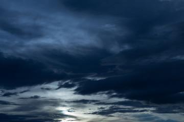 Printed kitchen splashbacks Night black cloud in darkness sky, night sky of halloween background