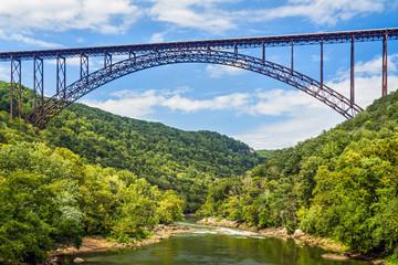 In de dag Brug New River Gorge Bridge
