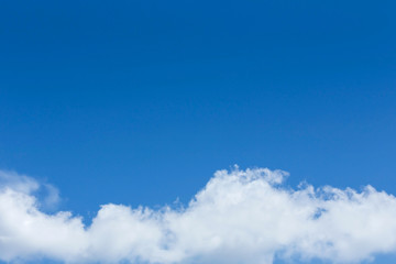 cloud on clear blue sky background