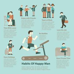 Happy man lifestyle