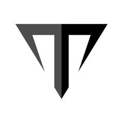 Letter T Taurus Symbol Logo Template