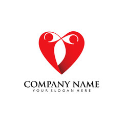 Love valentine logo icon