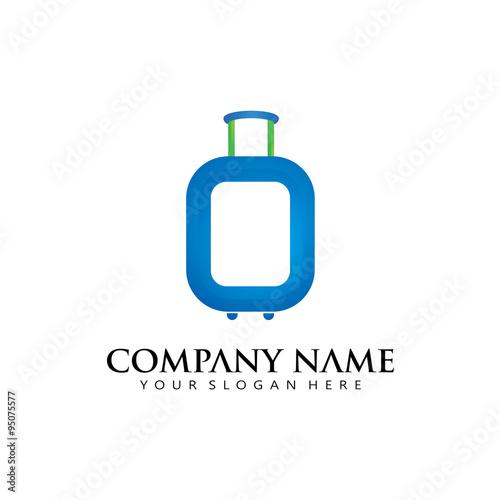Elegant Simple Initial O Travel Bag Holiday Logo Icon